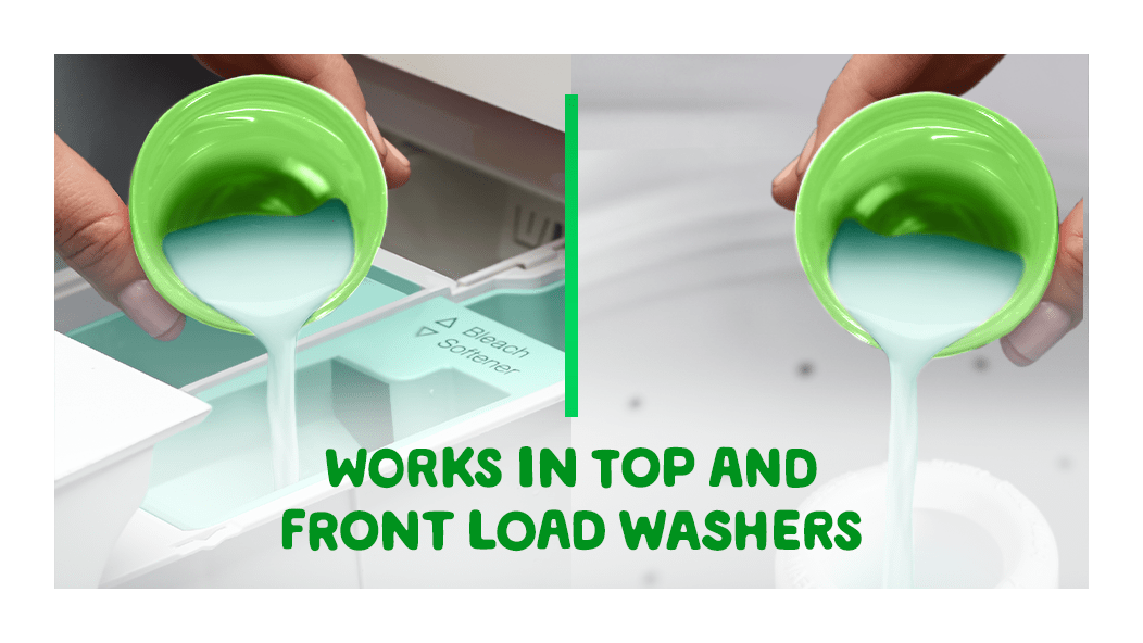Gain Island Fresh Fabric Softener works in top and front load washes