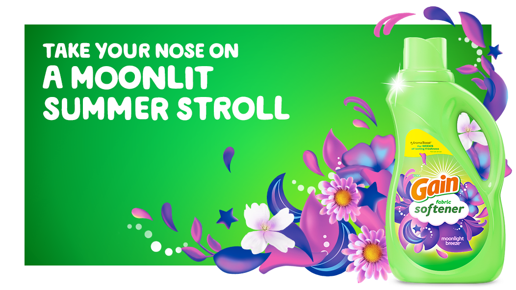 Take your nose on a moonlit summer stroll with Gain Moonlight Breeze Fabric Softener