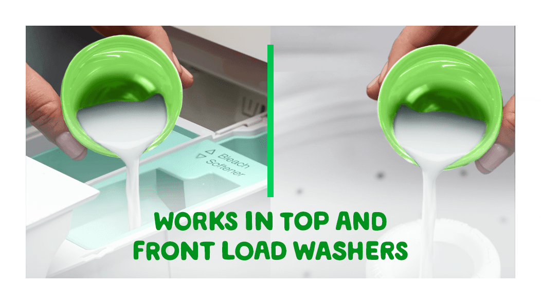 Liquid Fabric Enhancer that works both in top and front load washers