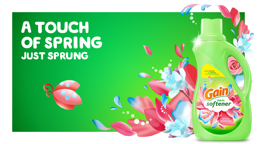 A touch of spring just sprung with Gain Spring Daydream Fabric Softener