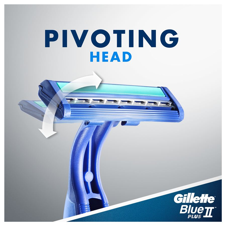Gillette Blue II Plus – Pivoting head.