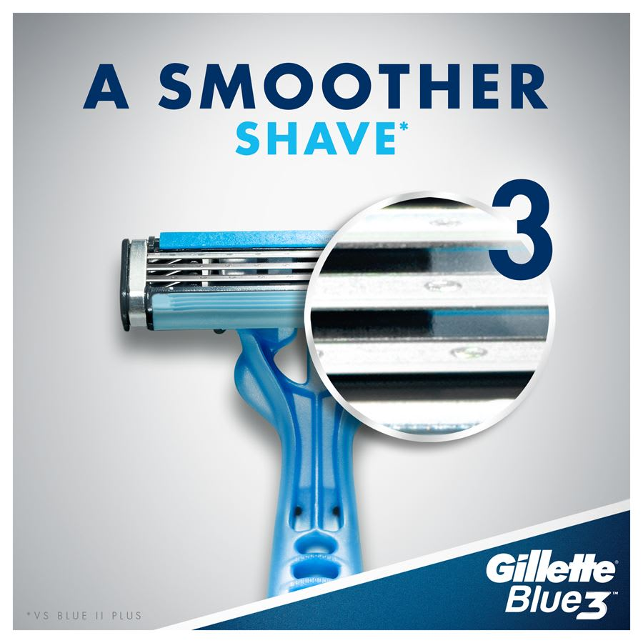 Gillette Blue3 – A smoother shave.