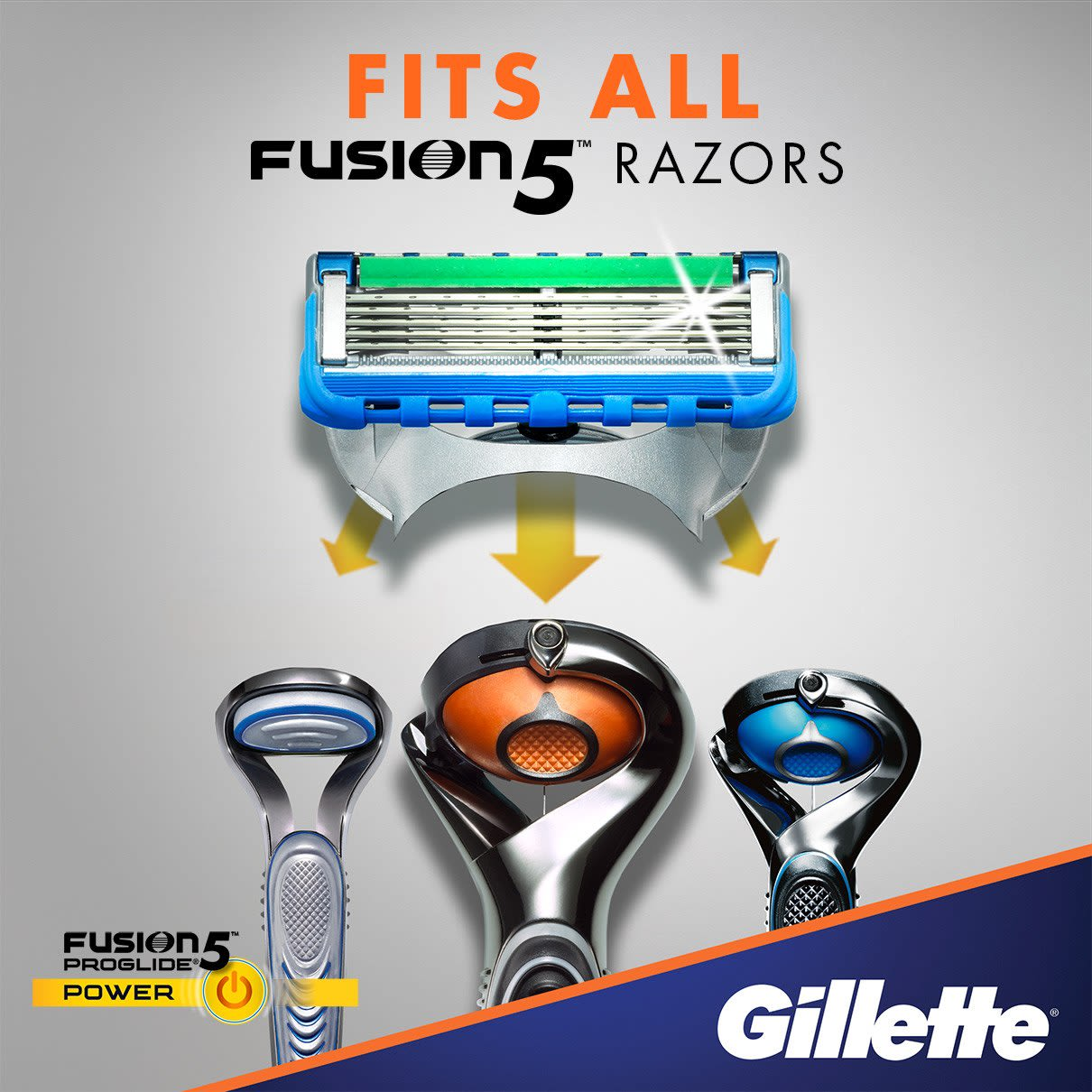 Fits all Fusion5 blade razors