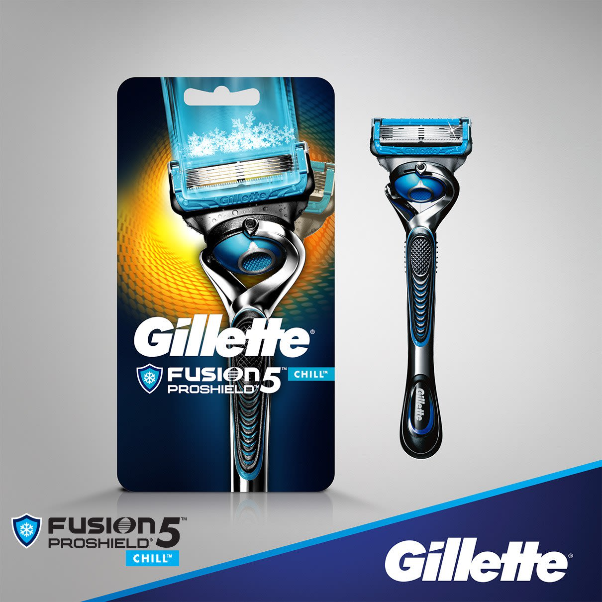 Gillette® Fusion5™ ProShield Chill Razor with Flexball™ Technology
