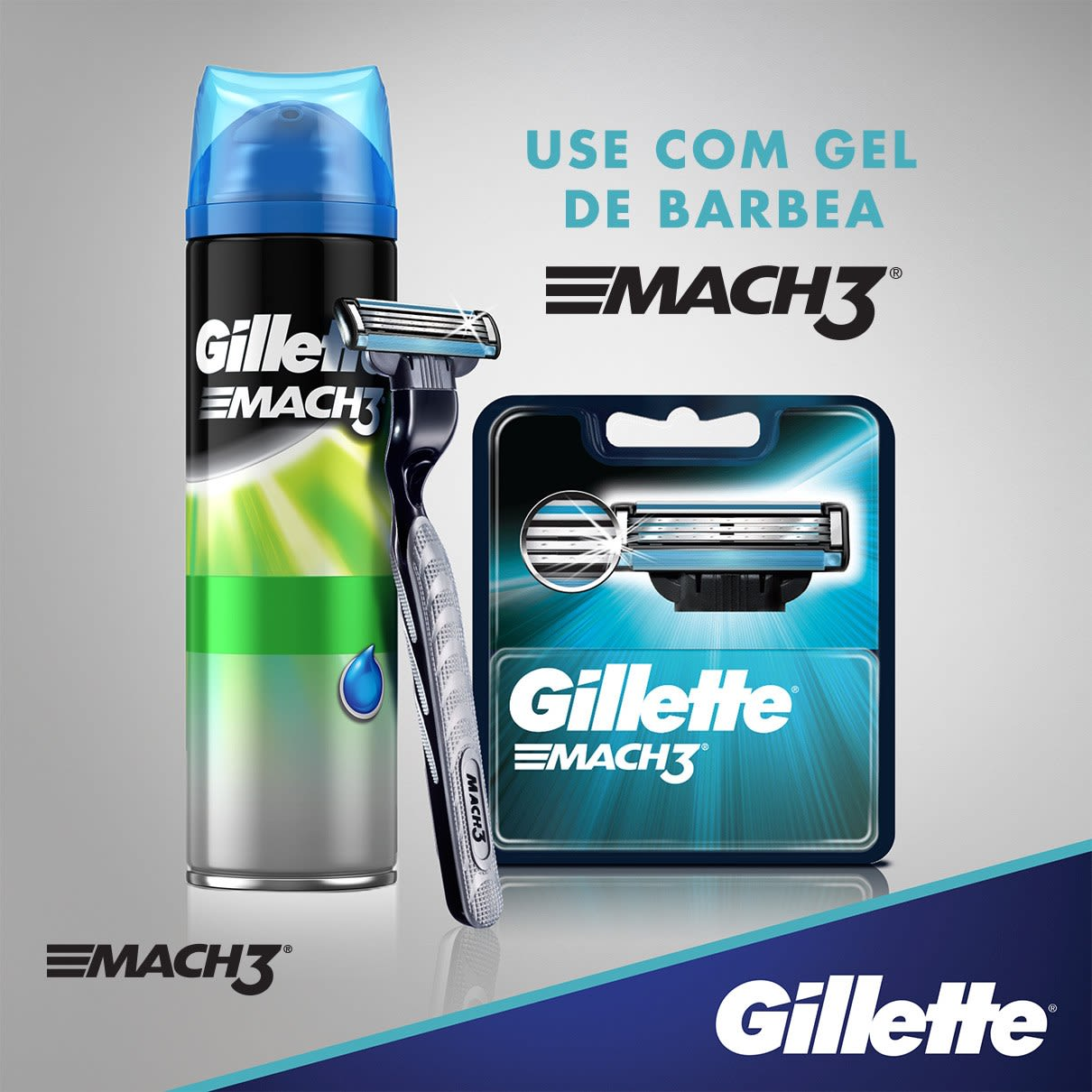 Use com gel de barbear Mach3