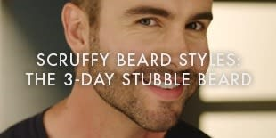 Scruffy Beard Styles:  The 3-day Stubble Beard