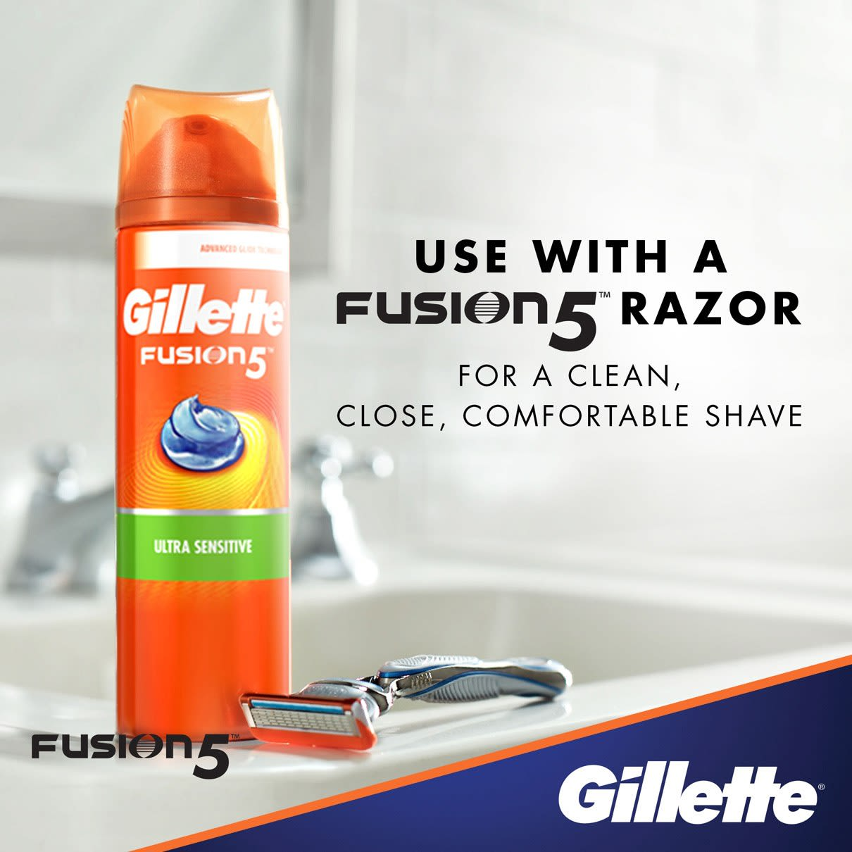 Use with a Fusion5 razor I  Gillette Fusion5 Ultra Sensitive Shave Gel