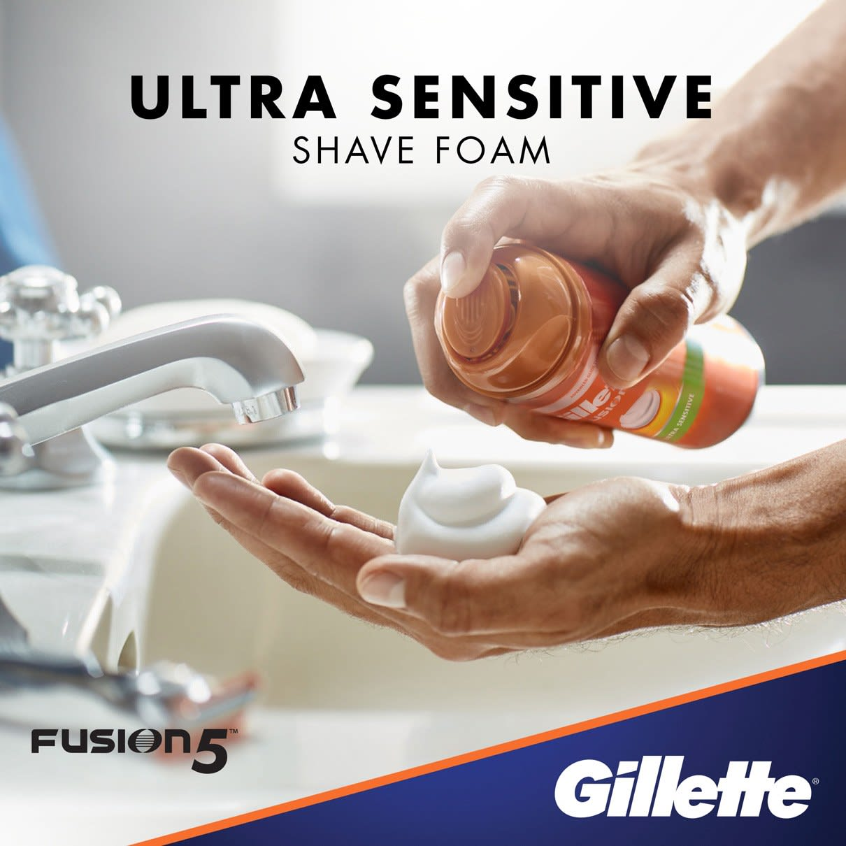 Ultra Sensitive Shave Foam I  Gillette Fusion5 Ultra Sensitive Shave Foam