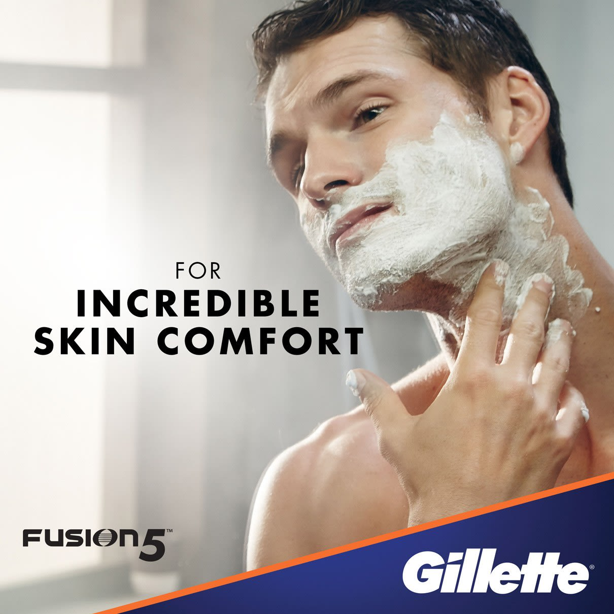 For Incredible Skin Comfort I  Gillette Fusion5 Ultra Sensitive Shave Foam