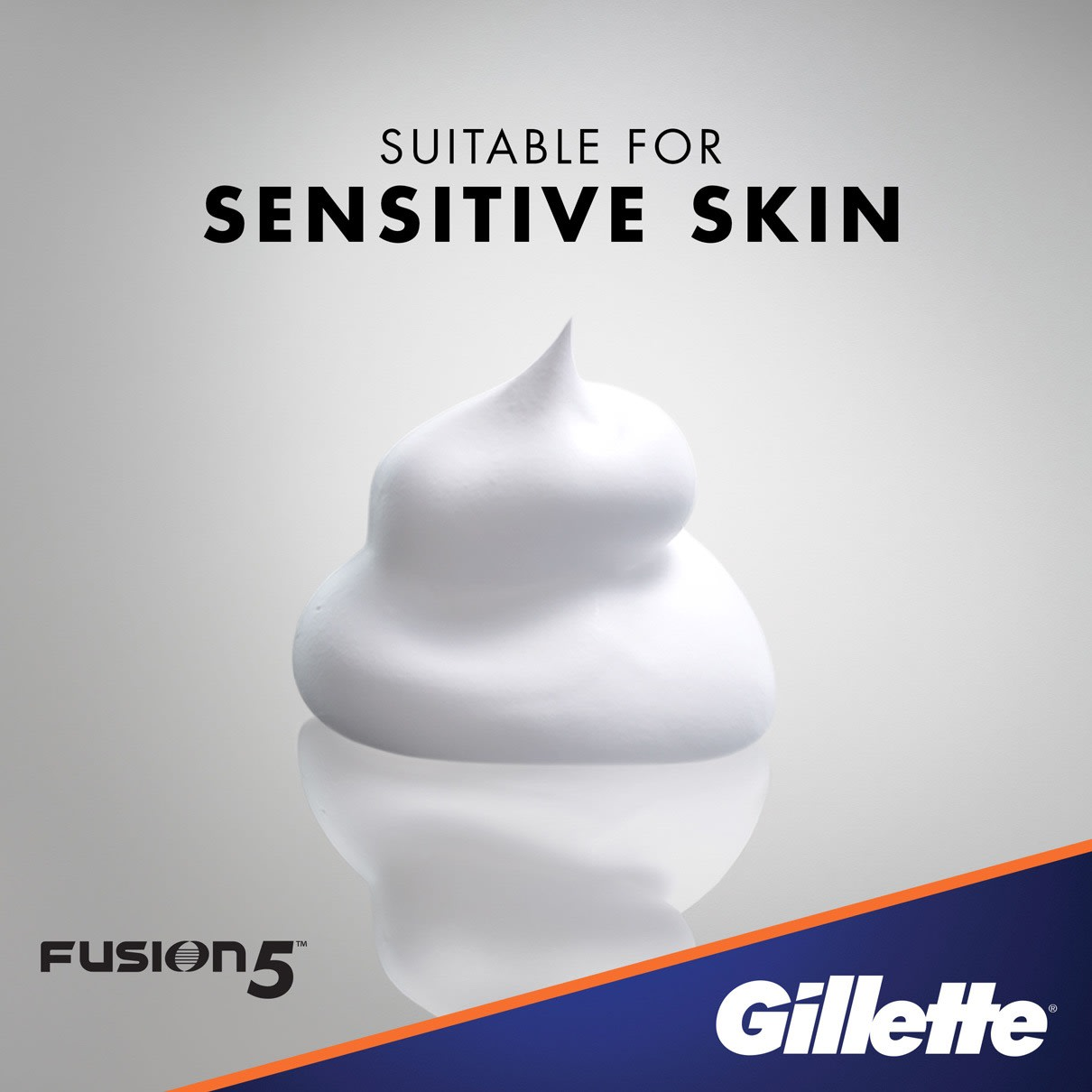 Suitable for Sensitive Skin I  Gillette Fusion5 Ultra Sensitive Shave Foam