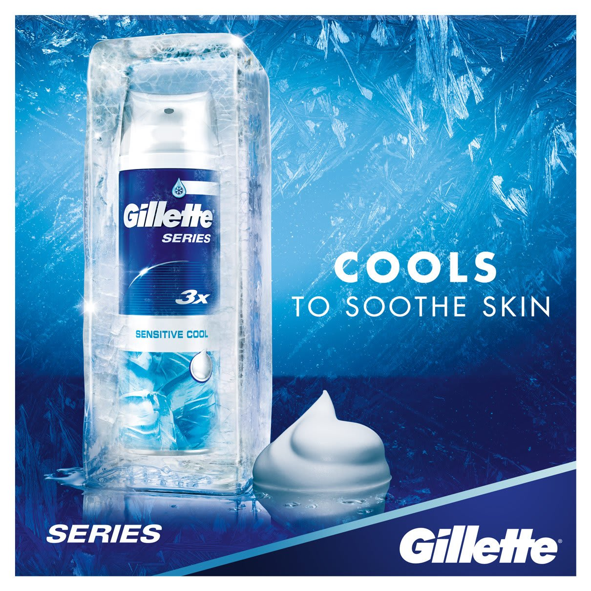 Cools to Soothe Skin | Gillette Series Sensitive Cool Shave Foam