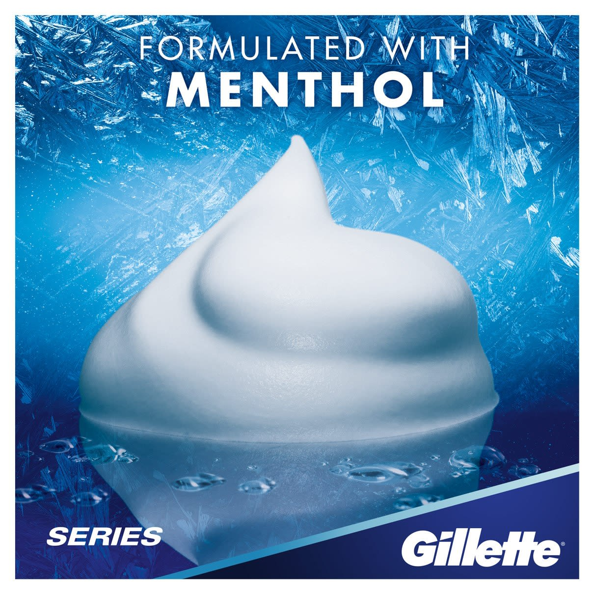 With Menthol | Gillette Series Sensitive Cool Shave Foam