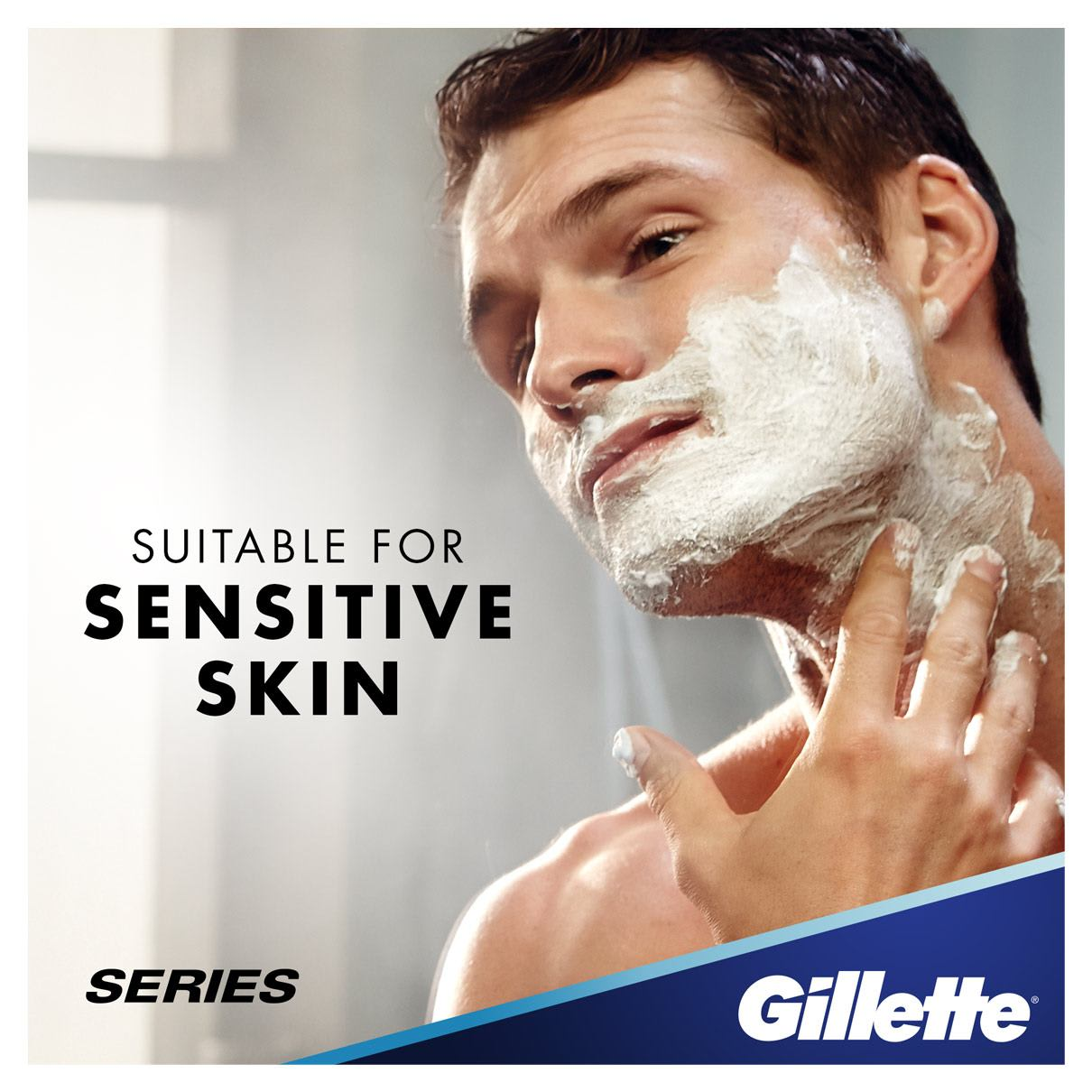Suitable For Sensitive Skin | Gillette Series Sensitive Cool Shave Gel
