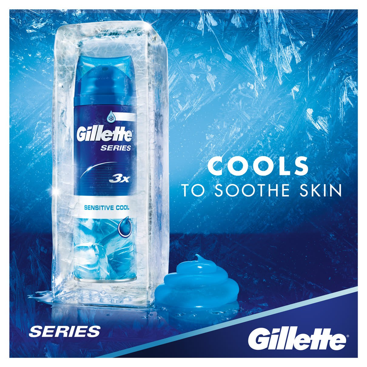 Cools to Soothe Skin | Gillette Series Sensitive Cool Shave Gel