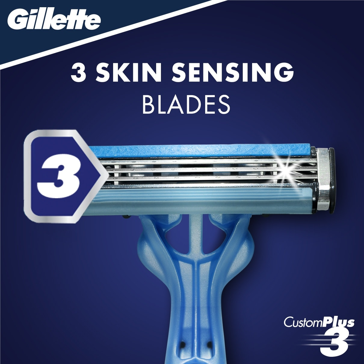 CUSTOMPLUS® 3 SENSITIVE DISPOSABLE RAZOR