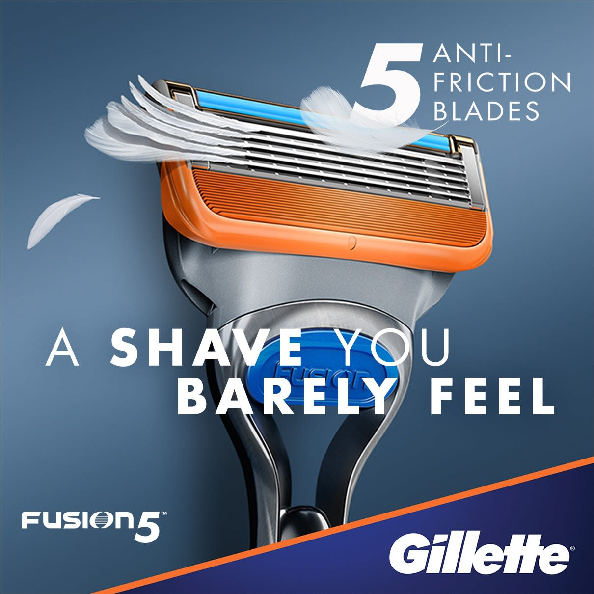 5 anti-friction blades, a shave you barely feel