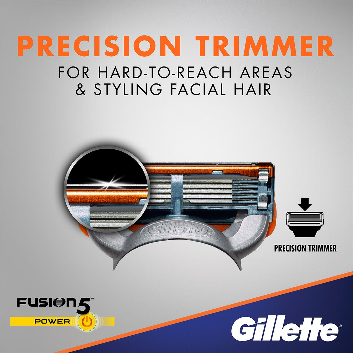 Precision Trimmer for hard-to-reach areas & styling facial hair
