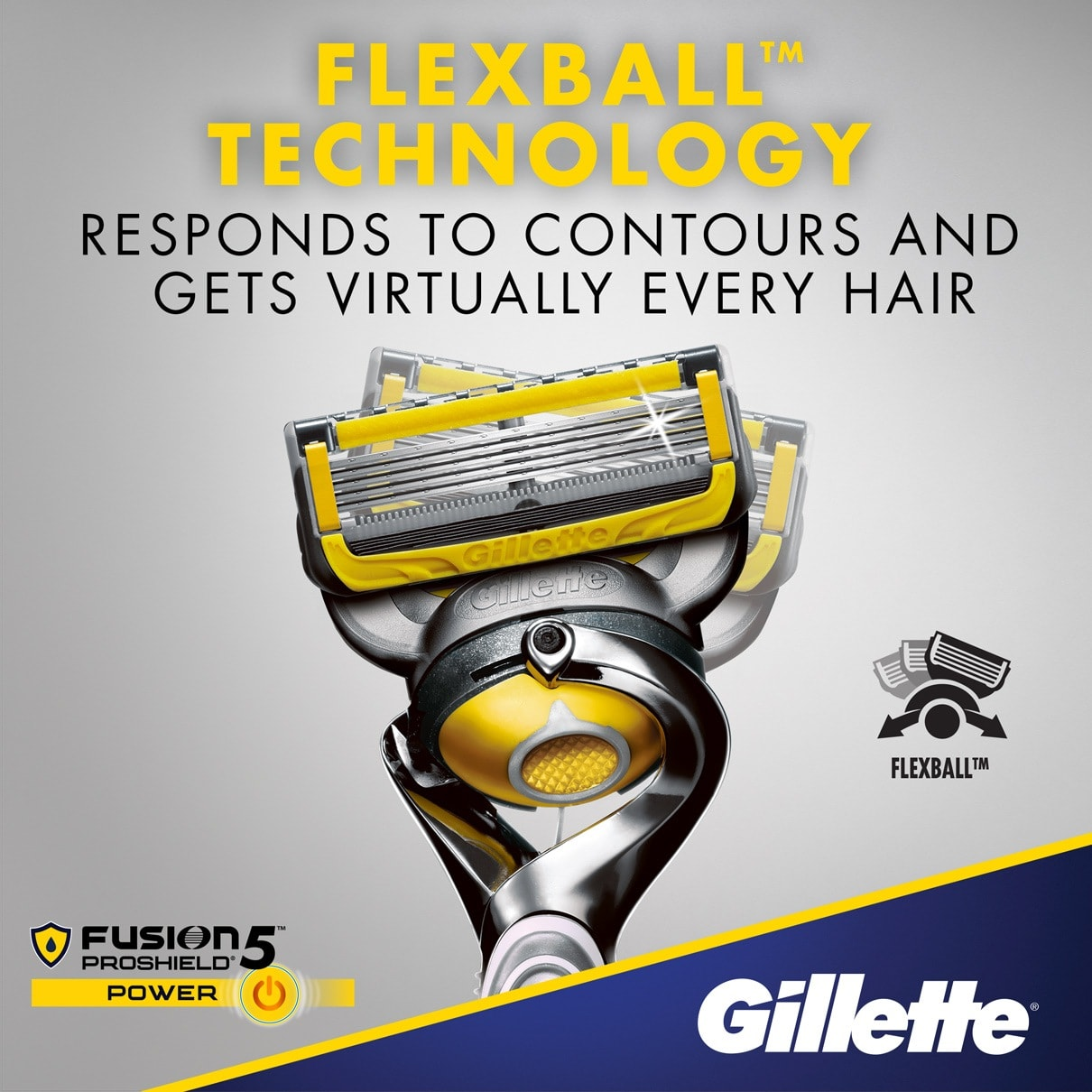 Flexball technology responds to contours and gets virtually every hair