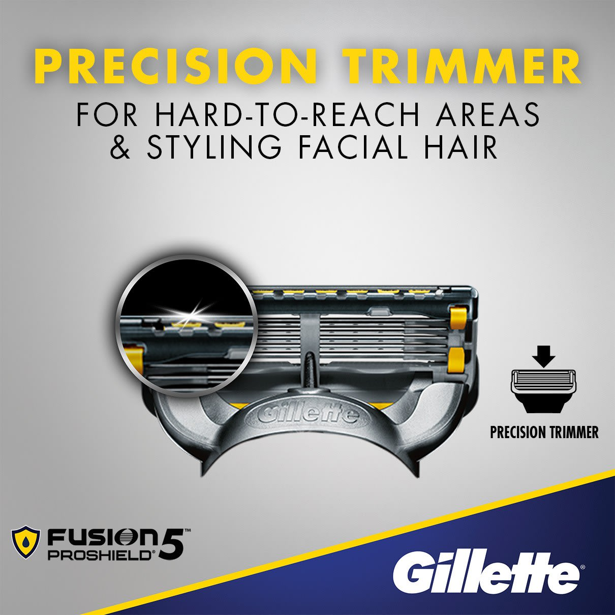 5 anti-friction blades, precision trimmer