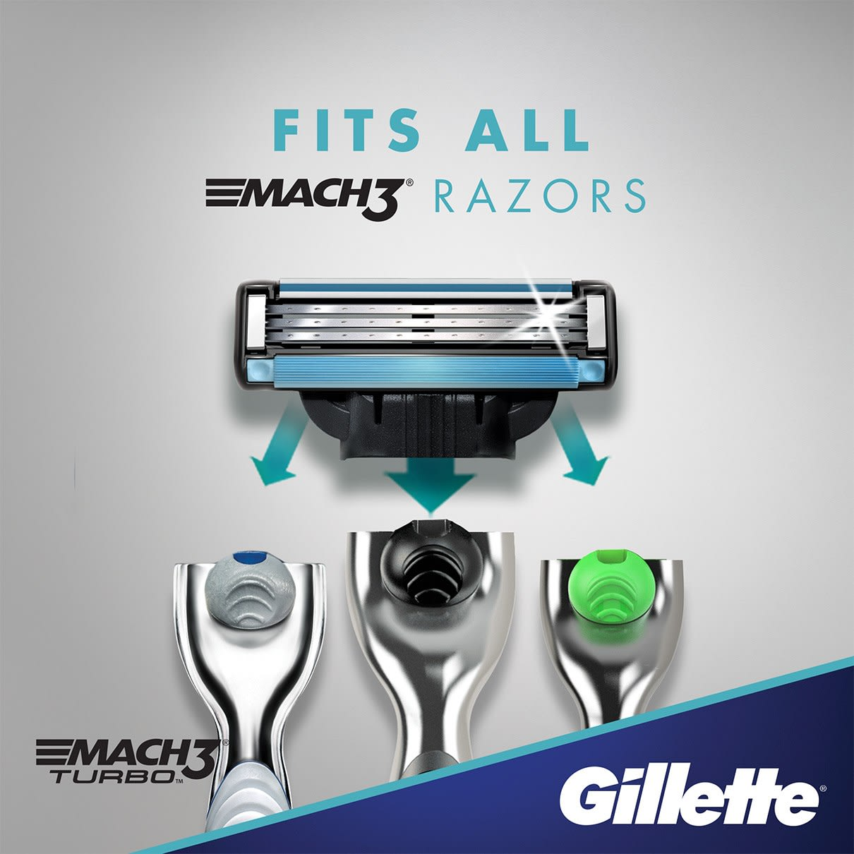 Fits all Mach3 razors