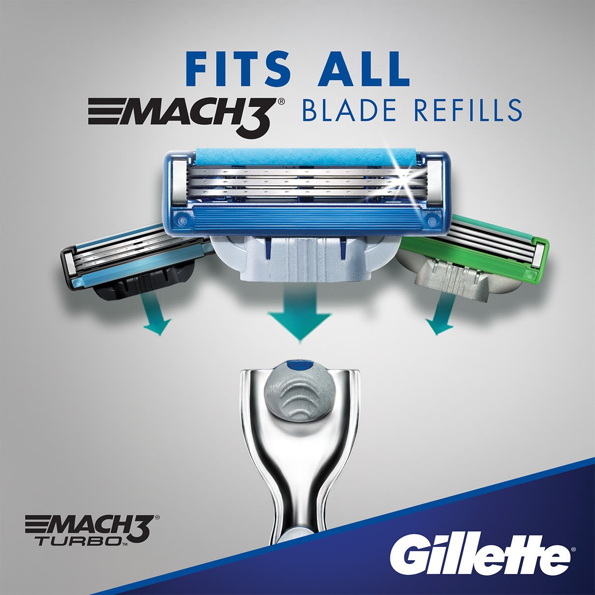 Fits all Mach3 blade refills