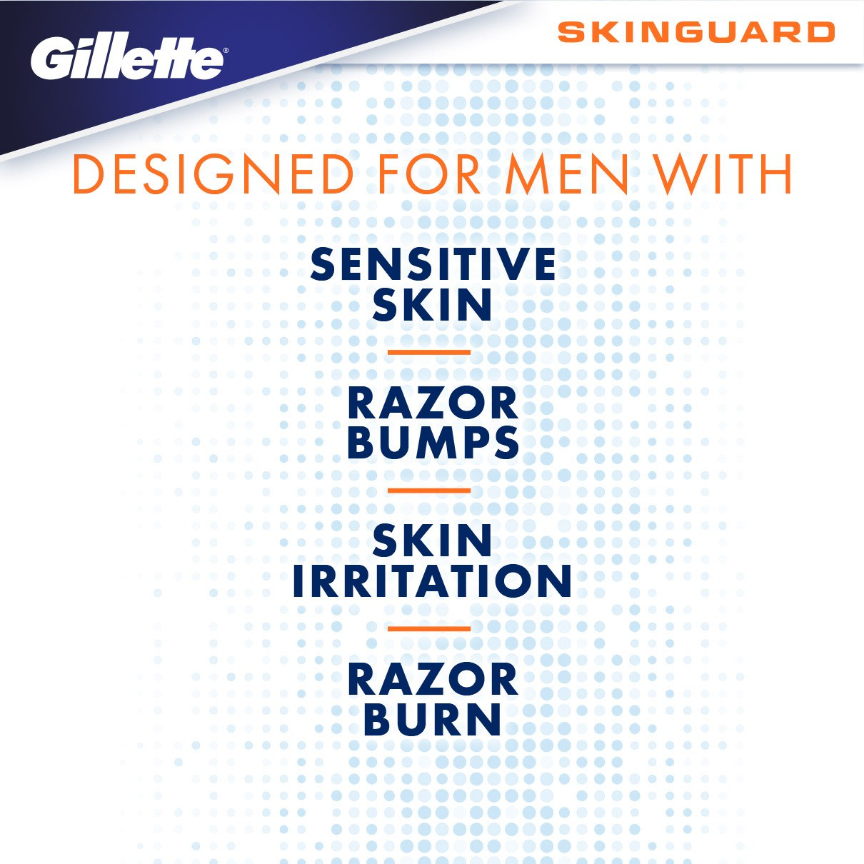 DESIGNED FOR MEN WITH SENSITIVE SKIN, RAZOR BUMPS, SKIN IRRITATION, RAZOR BURN