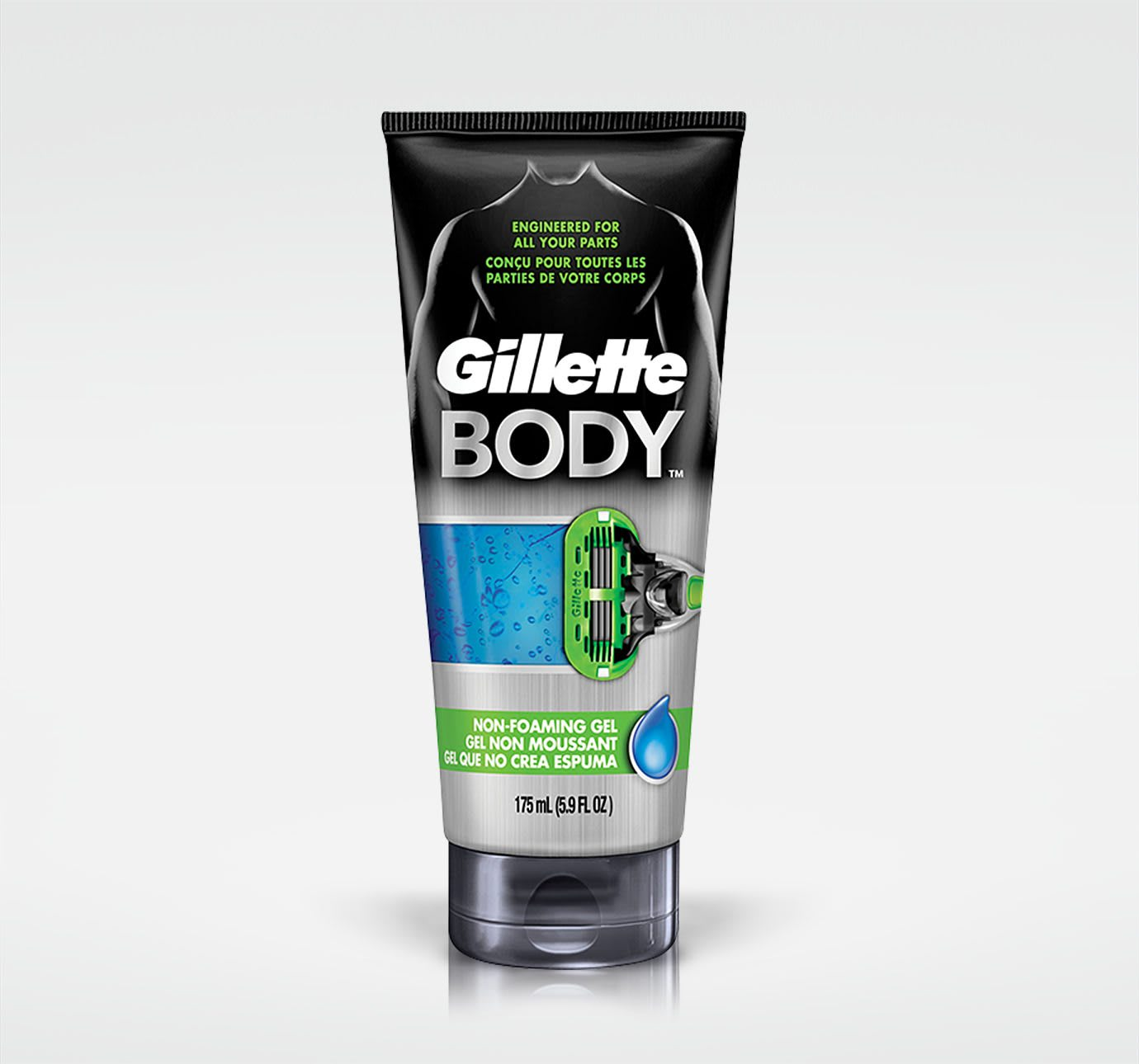 Gel à raser non moussant GILLETTE BODY