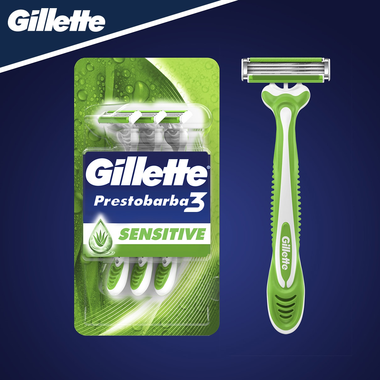 Gillette Prestobarba3 Sensitive