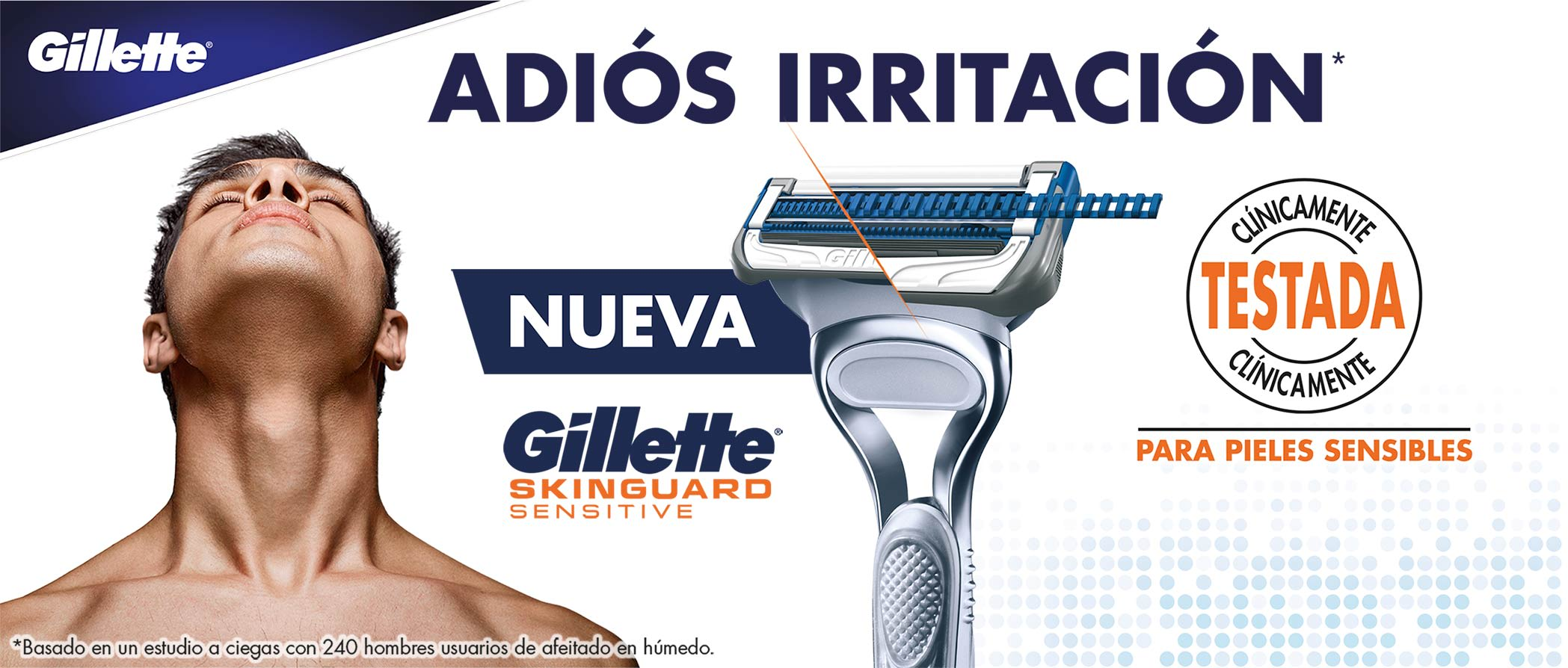 Gillette SkinGuard Technology for men with sensitive skin