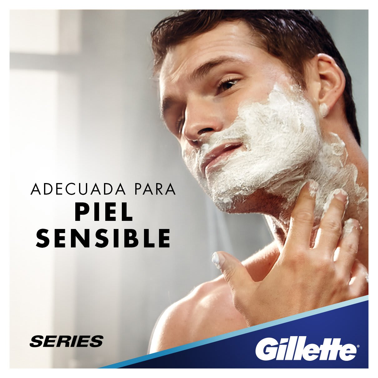 Adecuado para piel sensible | Gillette Series Sensitive Cool Gel De Afeitado