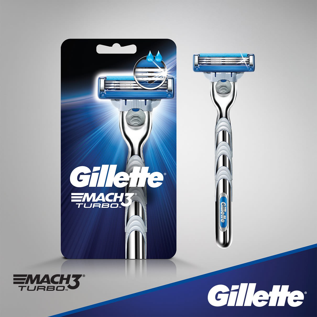 Gillette Mach3 Turbo Borotva