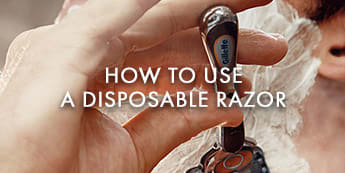 How to use a disposable razor