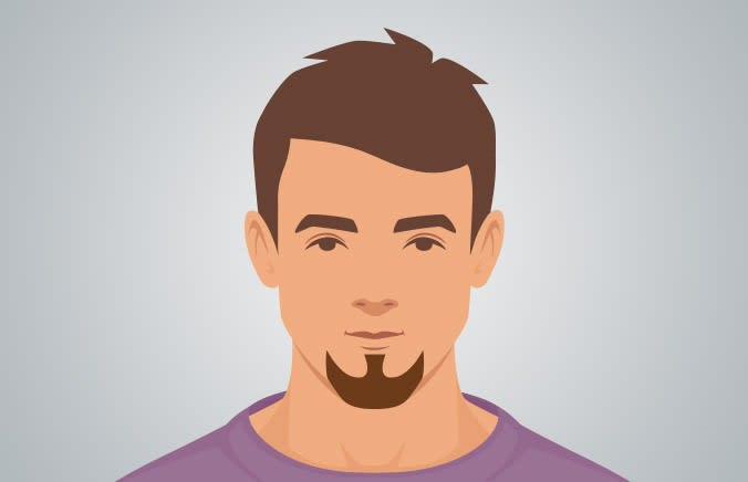Goatee beard style for square face