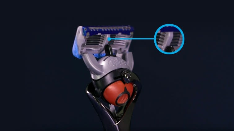 Multiple blades at the right distance will keep the skin more even for a close, comfortable shave.