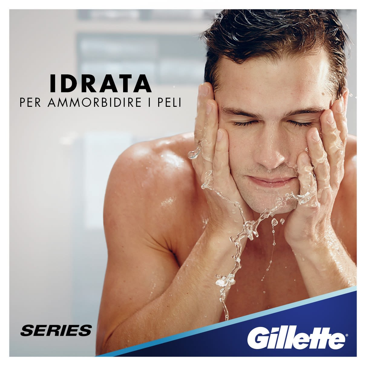 Idrata per ammorbidire i peli | Gel da barba Gillette Series Sensitive Cool