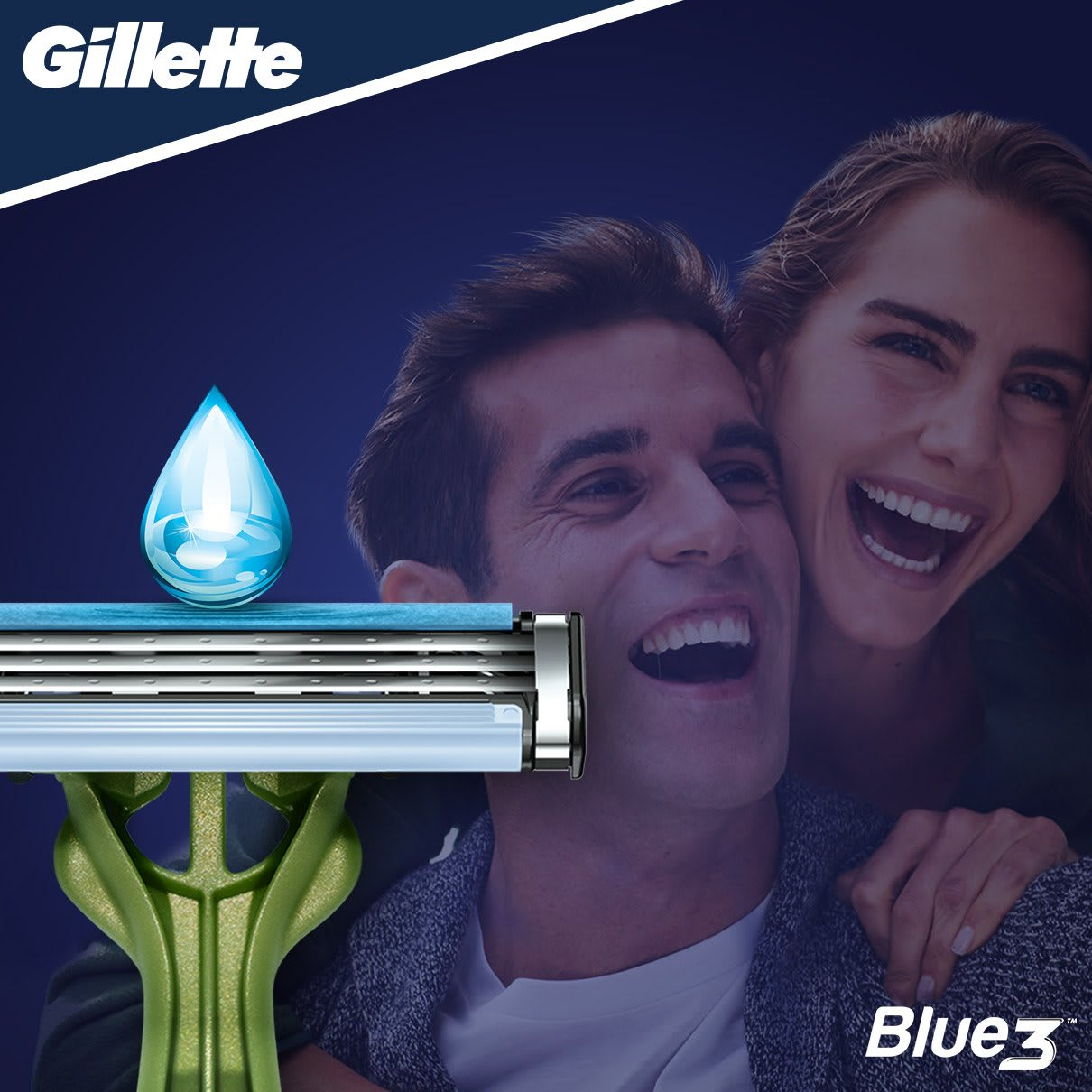 Gillette Blue3 Sensitive Rasoio Da Uomo Usa E Getta