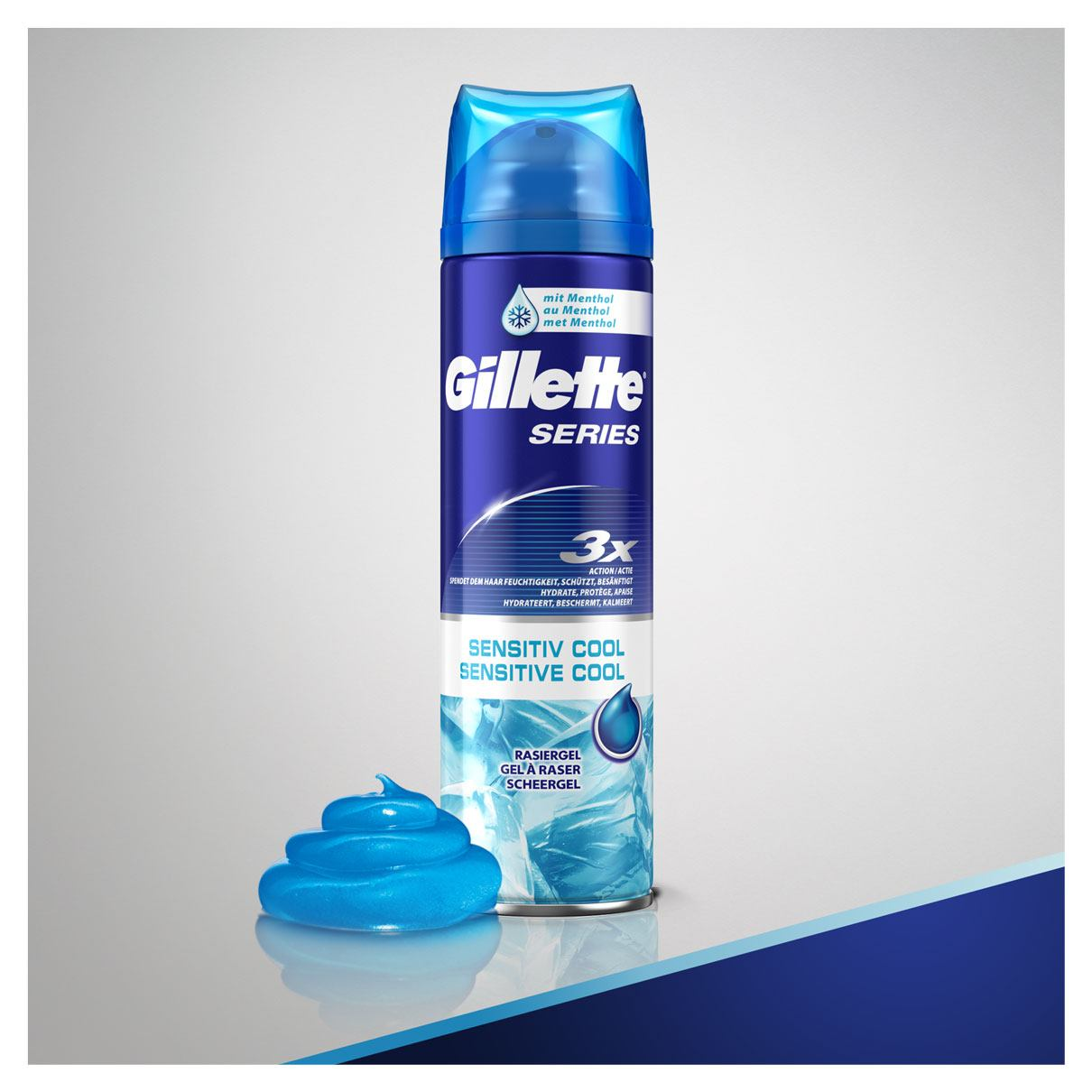 Productverpakking | Gillette Series Sensitive Cool Scheergel