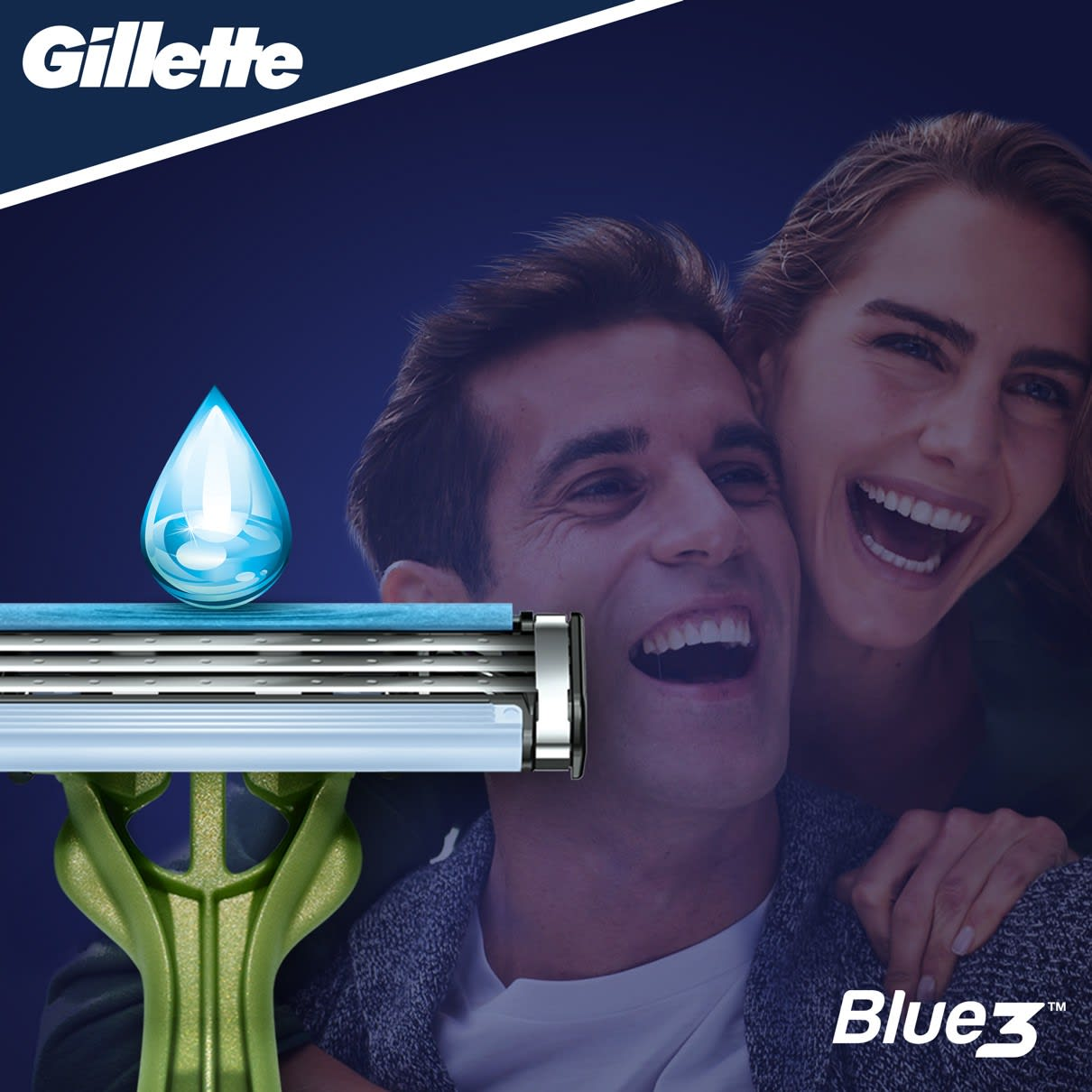 Gillette® Blue3 Sensitive Wegwerpmesje Voor Mannen
