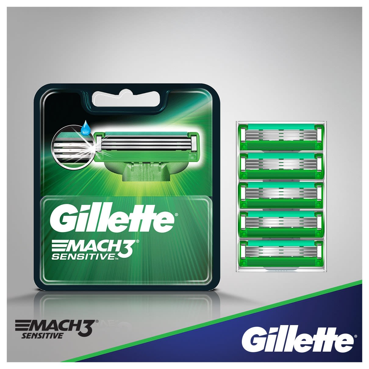 Gillette Mach3 Sensitive Ostrza do maszynek do golenia