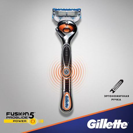Бритва Fusion5™ ProGlide® Power с технологией FlexBall™