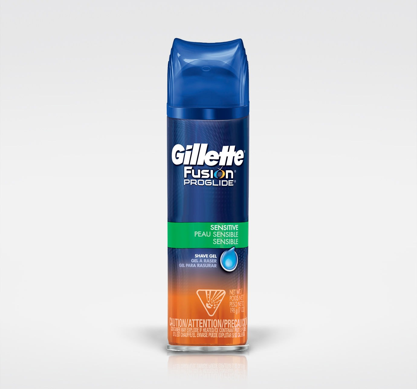 gillette fusion proglide sensitive shave gel