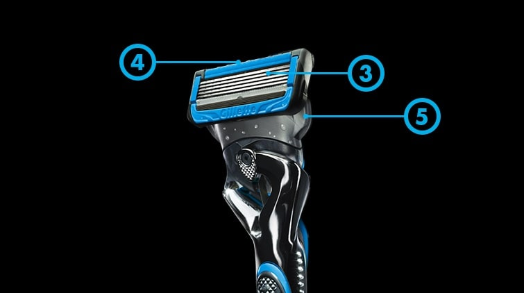 5 precision-engineered blades ensure a smooth, close shave.
