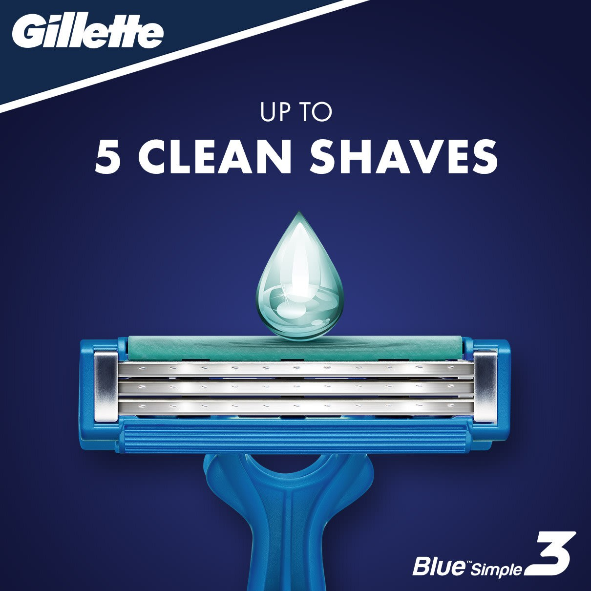 Gillette Blue Simple3 Men's Disposable Razor