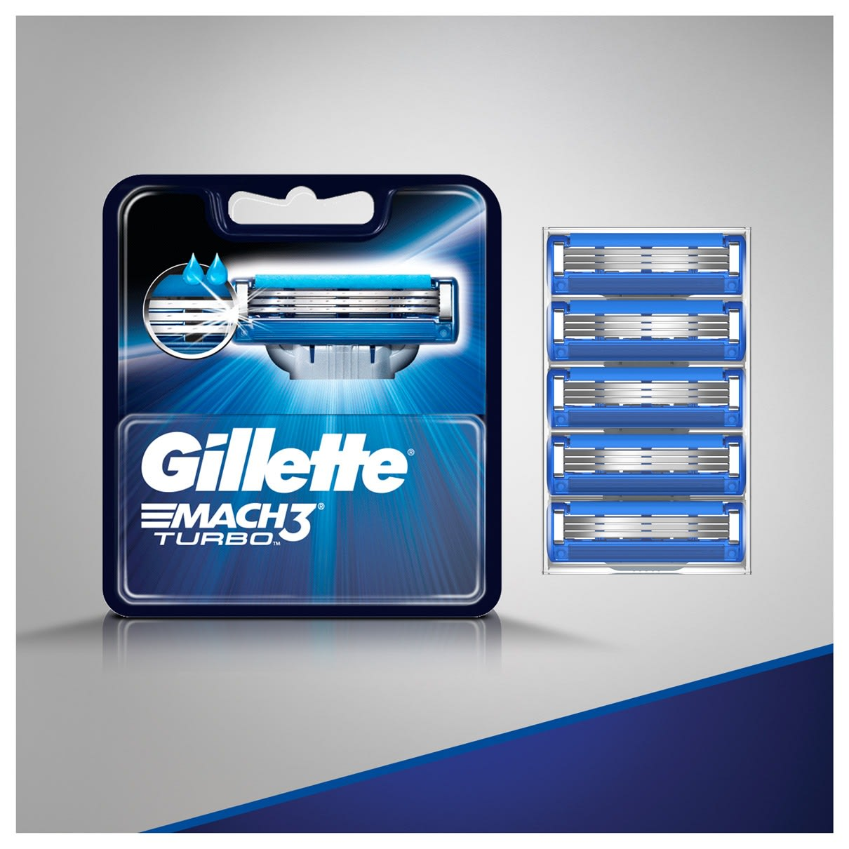 Gillette® MACH3® Turbo Men's Razor Blade Refills