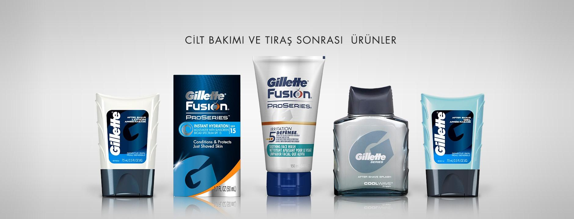 gillette skin care aftershaves