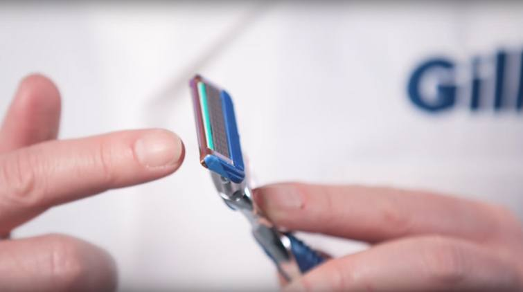 Use the Precision Trimmer on the back of your razor after shaving the larger surfaces.