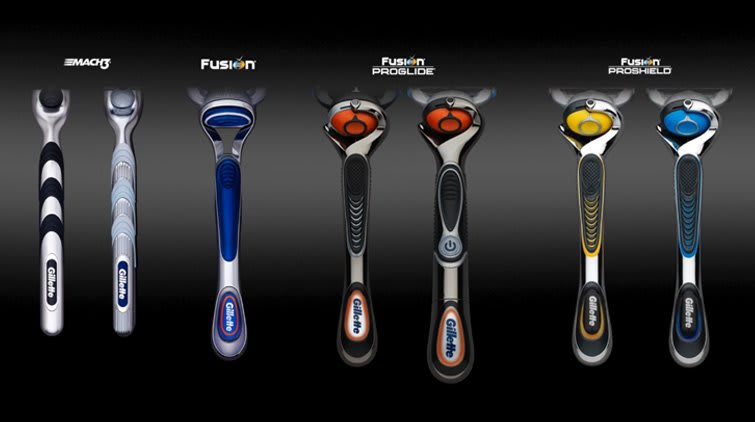 The look and feel of your Gillette razor handle is not a gimmick.