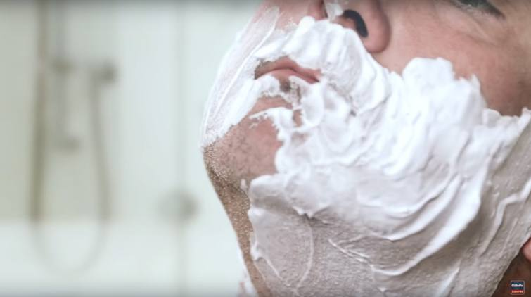 You usually lather up with cream before shaving, ever wondered why?