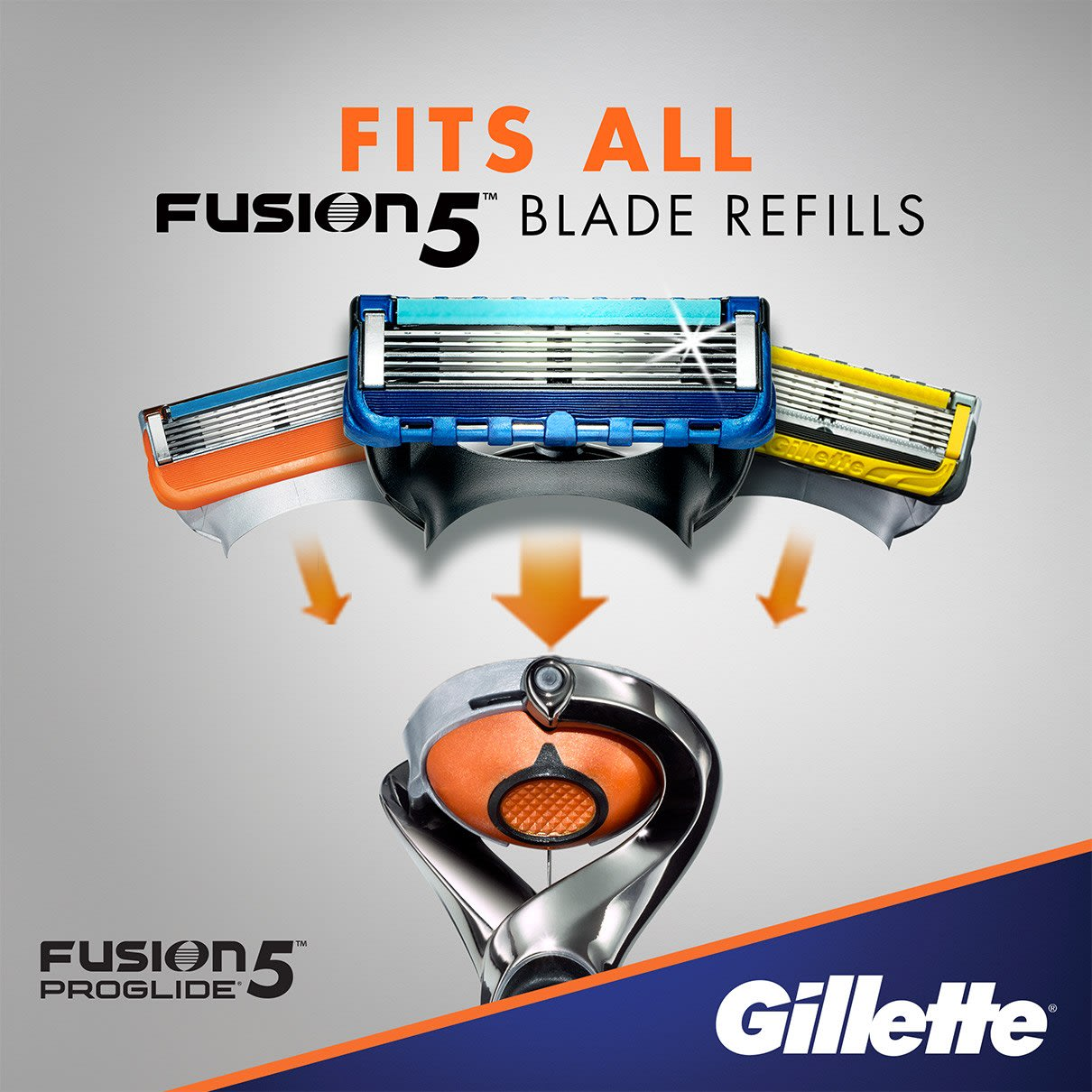 Fits all Fusion5 blade refills