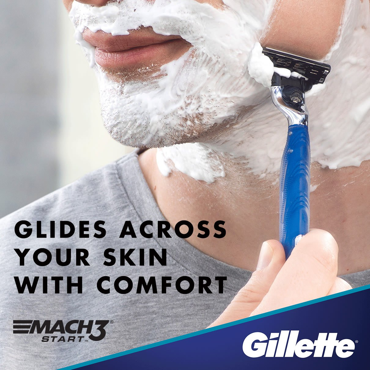 Glides across your skin with comfort